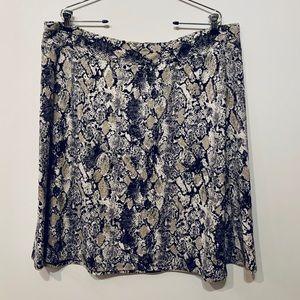 CB Established 1962 Python Print A-line skirt NEW